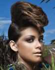 peinados recogidos - updo for medium long hair