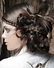 peinados recogidos - updo with feathers