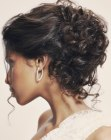 cortes de pelo - updo for hair with curls