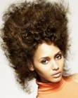 peinados – very high curly updo