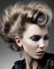 peinados - updo for hair with undercut sides