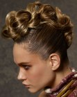recogidos - up-style with loose braid