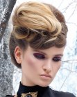 recogidos - updo with frontal braid