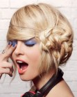 recogidos – updo with side braid