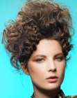 cabellos recogidos - updo with braids and curls
