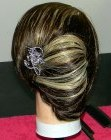 cabellos recogidos - French roll with clip-in extensions