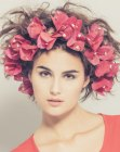 recogidos – party hair with flowers